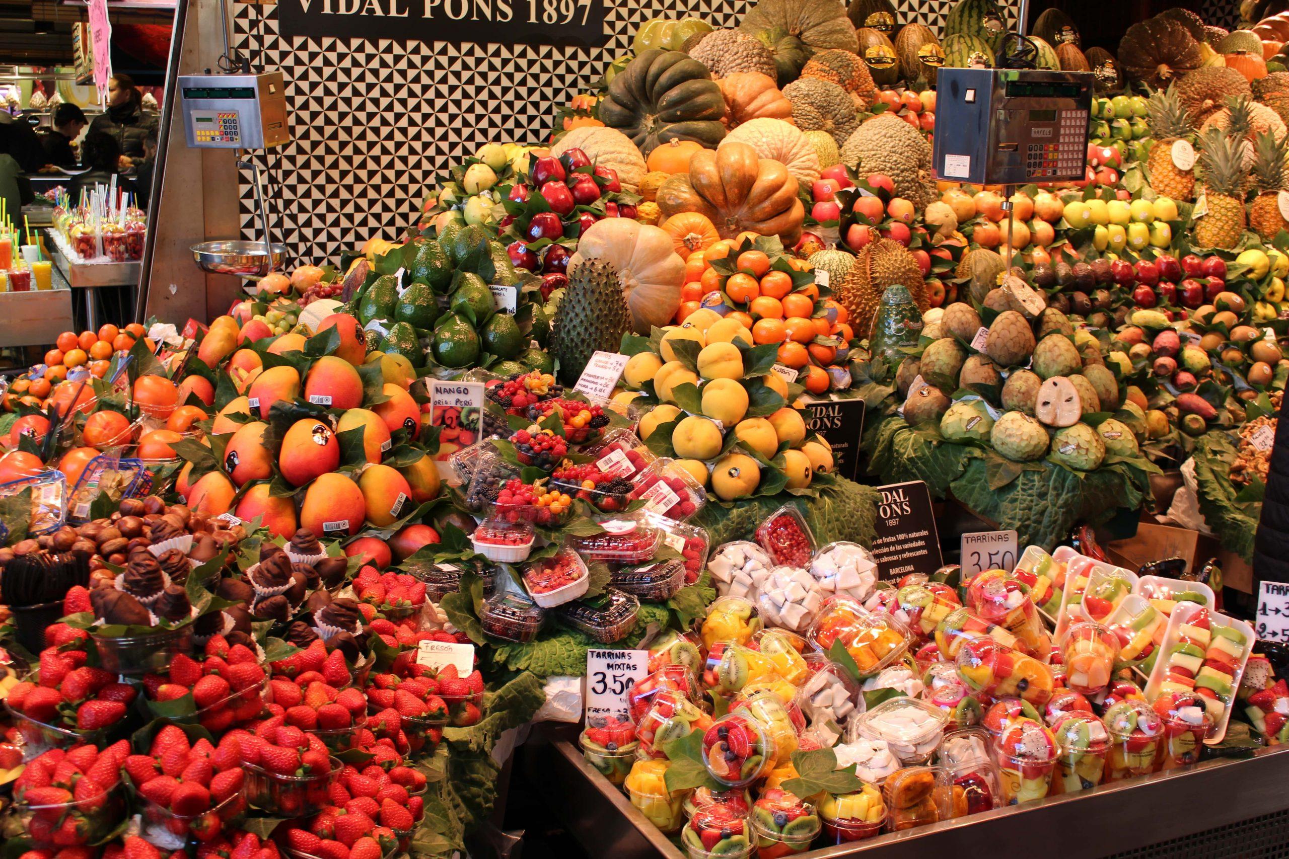 frisches Obst im Mercado de la Boqueria