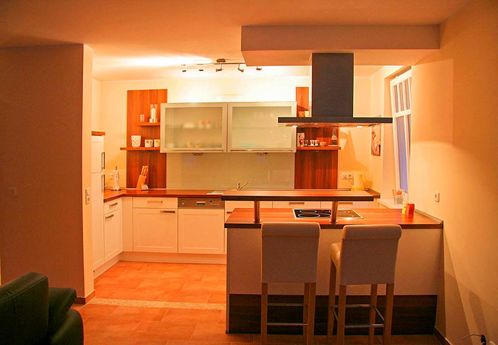 offene Wohnküche im Ferienhaus Sundevit 3