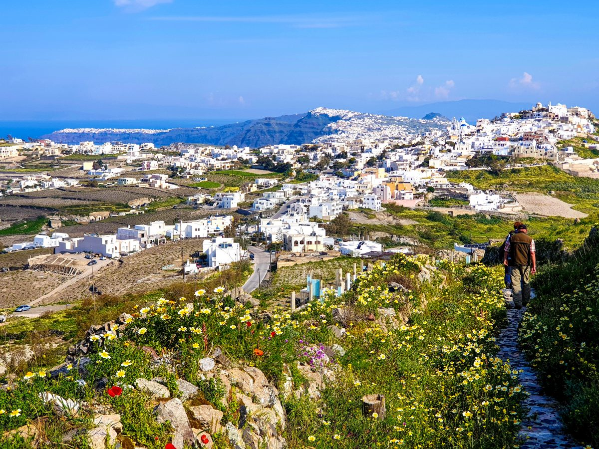Wanderung auf Santorini