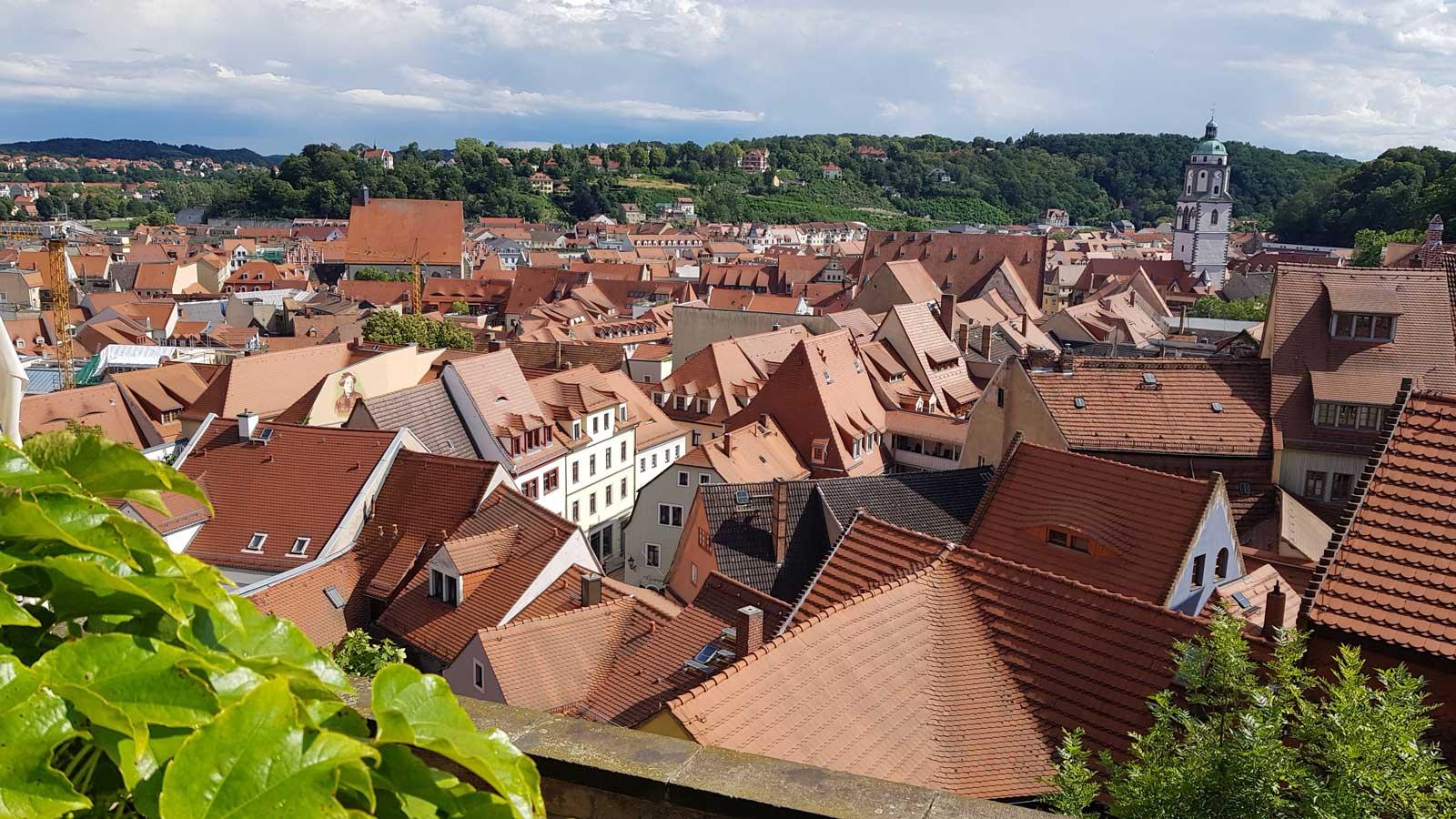 Über den Dächern der Stadt Meißen