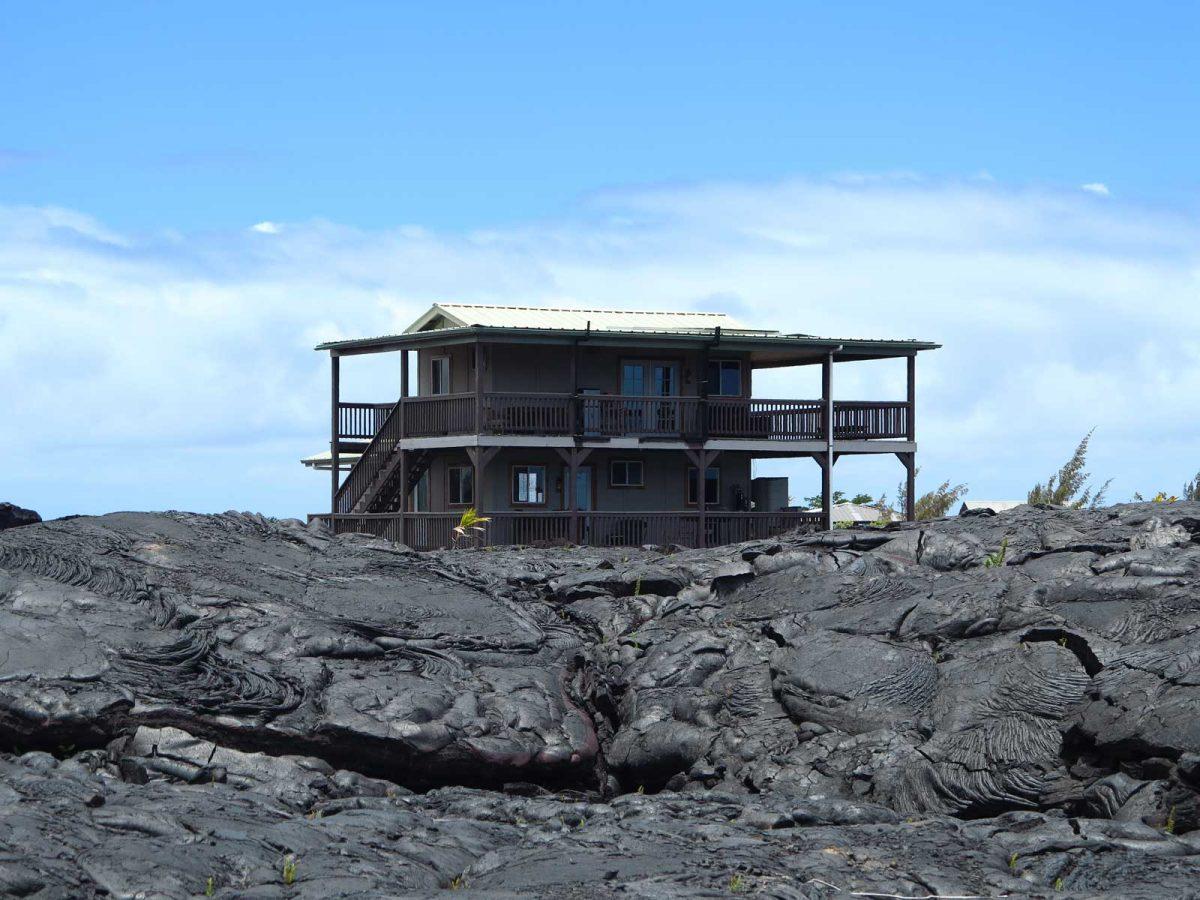 Lavafeld auf Big Island