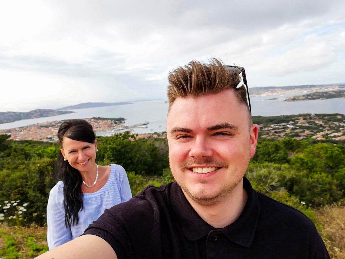 Claudia und Philipp in Palau