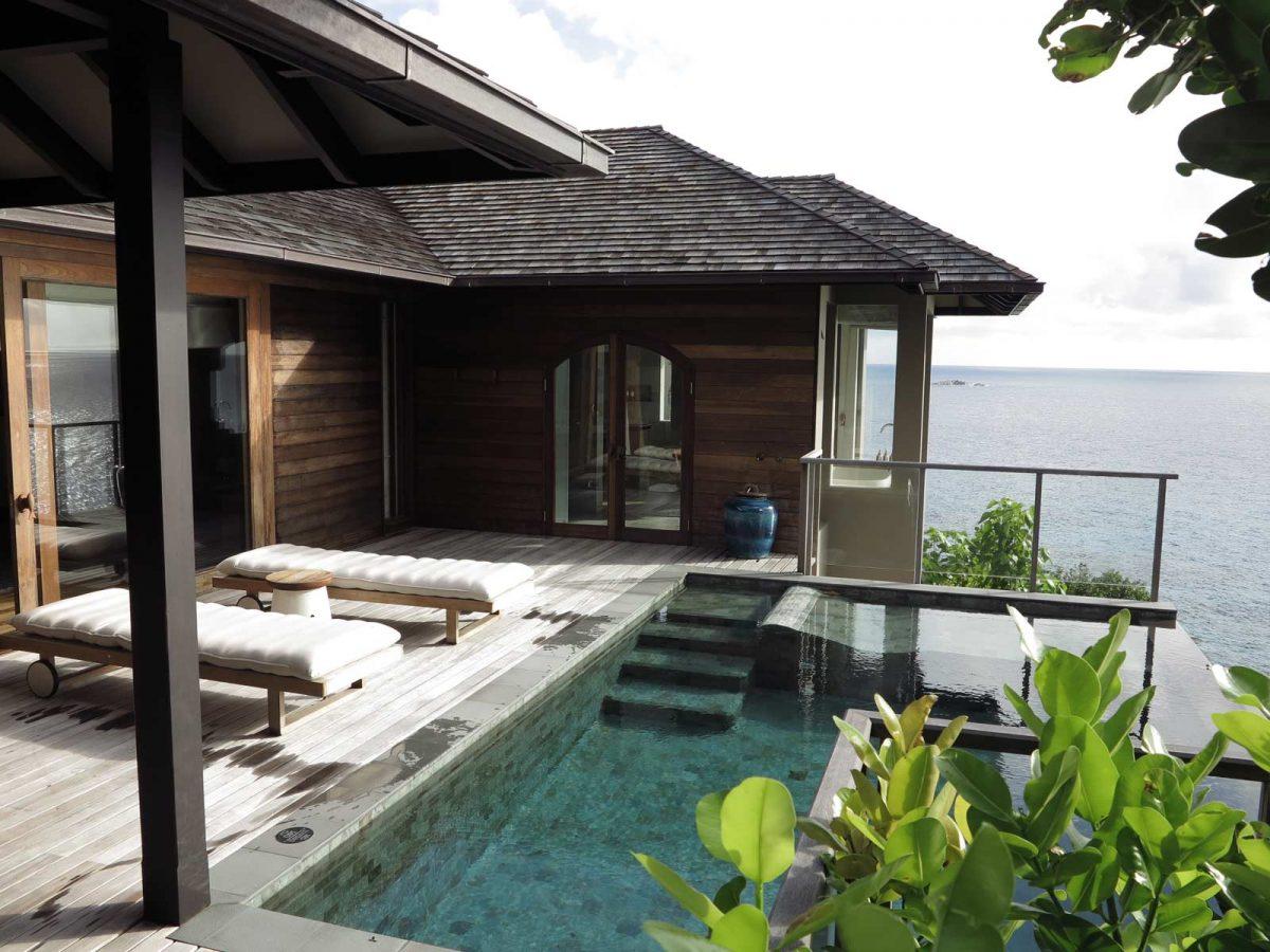 Villa im Six Senses Hotel auf der Insel Felicite