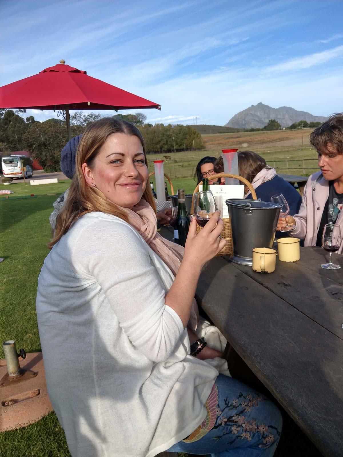 Sundowner in Südafrika