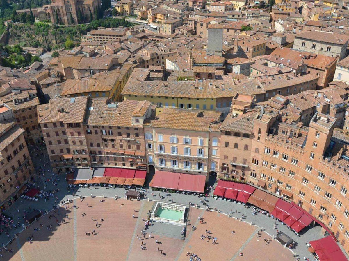 Piazza del Campo von oben